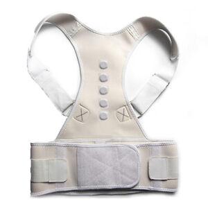 Male Female Adjustable Magnetic Posture Corrector Back Brace Lumbar Support Belt