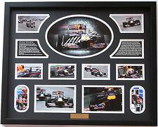 New Mark Webber Signed Limited Edition Memorabilia Framed