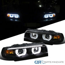 For 95-01 BMW E38 7-Series 740i 740iL 750iL Black Iced Halo Projector Headlights