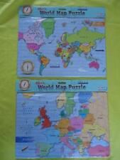 Wooden Maps 26 - 99 Pieces Jigsaw Puzzles