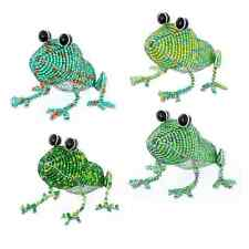 BEADWORX - GARDEN POND GREEN FROG - BEAD WORK HAND CRAFTED BEADED GIFT