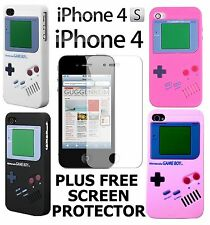 APPLE IPHONE 4 AND NEW 4S NINTENDO GAMEBOY MULTI COLOURS SILICONE CASE COVER