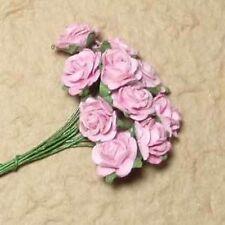 10 rosa rose aperte per le schede o Crafts
