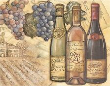 WINE & GRAPES VINEYARD     MOUSE PAD  IMAGE FABRIC TOP RUBBER BACKED