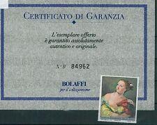 ITALIA REPUBBLICA Varietà -  SAGGIO POLIGRAFICO TIEPOLO - certificato BOLAFFI