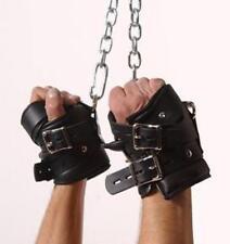 Strict Leather Premium Padded Suspension Wrist Cuff Restraints Black Pair DRings