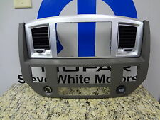 06-09 Dodge Ram GPS NAV Navigation Dash Radio Bezel Silver & Khaki Mopar Factory