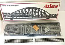 """HO 18"""" Curved Chord Truss Bridge Kit Code 100 Silver Atlas # 887 NEW OLD STOCK"""