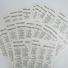 Strat-O-Matic Baseball 1986 Individual Card Sets Choose Your Team AL NL