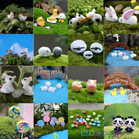 DIY Garden Ornament Mini Figurine Resin Craft Plant Pots Fairy Dollhouse Decor