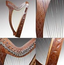 IRISCH KELTISCHE HARFE 27 SAITEN mit Halbtonklappen HARPE ARPE HARP Lyra-Lyre