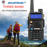 BAOFENG UV-5R Ⅲ LCD 5W Tri Band Walkie Talkie CTCSS VOX Long Range 2-Way Radio