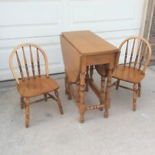 Children's Gate Leg Drop Leaf Table & Windsor Chairs School Library Books Mind