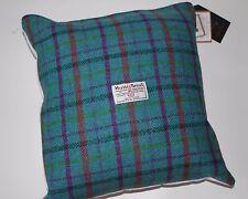 "Handmade 13"" Aqua Purple Harris Tweed Cushion"