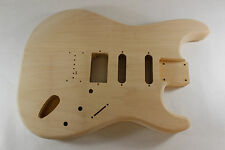 Unfinished Hardtail Basswood HSS body Fits Fender Strat Stratocaster neck P323