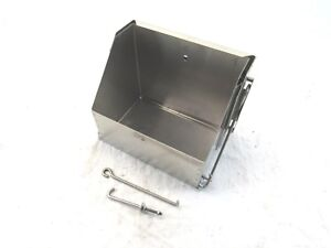 Ford Chevy Mopar Universal Steel Drop Out Battery Box Stainless BPD-1101
