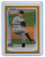 2011 Bowman Chrome Draft Tyler Anderson RC Gold Refractor/50