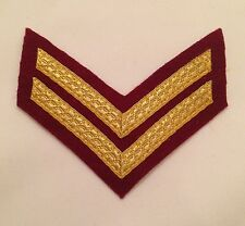 Parachute Regiment Corporal Chevron, Para Maroon Mess Dress, 2 Bar, Gold, Army