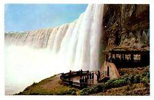 Niagara Falls Ontario Canada Postcard Plaza Below Horseshoe Falls Table Rock