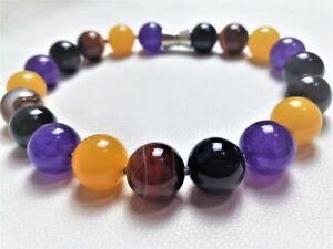 purple sea sediment Necklace,purple jasper beads pendant,leather Simple Necklace,violet gemstone,Minimalist Jewelry,Single Bead Necklac