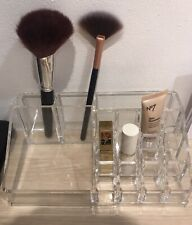 Plastic Acrylic Makeup Desk Cosmetic Organiser Lipstick Brush Holder Storage
