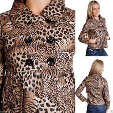 Faux Leather Blazer Button Coats & Jackets for Women
