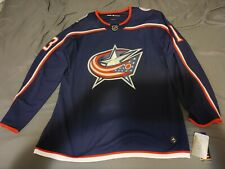 NHL Columbus Blue Jackets Cam Atkinson Authentic Adidas Home Jersey Size 54 NWT