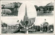 BRIDGWATER Multi-view Postcard SOMERSET Tuck, Raphael & Sons Ltd.