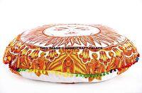 Sun Mandala Floor Pillow Hippie Ottoman Pouf Round Tapestry Indian Cushion Cover