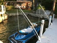"Mooring Whips Deck mounted fourteen foot x 1/"" solid fiberglass poles. 14/'"