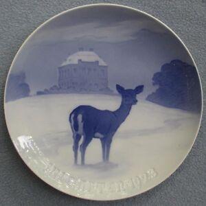 Bing & Grondahl B&G Christmas Ermitage Castle Plate 1923
