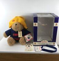 Rare Hamleys eden CLASSIC Albert Paddington Bear W Box Yellow Hat