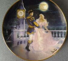 MAGIC TIL MIDNIGHT CINDERELLA PLATE STEVE READ FRANKLIN MINT WITH CRYSTAL BOXED