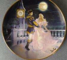 Magic Til Midnight Cenicienta placa Steve leer Franklin Mint Con Cristal En Caja