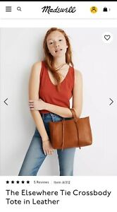 Madewell The Elsewhere Tie Crossbody Tote in Leather