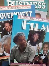 Great African Americans in FILM, GOVERNMENT, & BUSINESS - Set of Three -