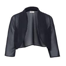 genial Abend Transparent Chiffon Bolero Jäckchen Blusen Jacke Gr.44/46 schwarz