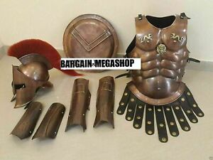 MEDIEVAL 300 KING SPARTAN HELMET WITH SET MUSCLE ARMOR + SHIELD
