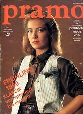 Pramo--Verlag für die Frau DDR Leipzig--2/90--Mit Musterbogen