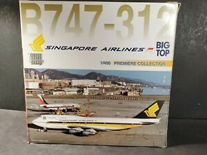 Dragon Wings B747-312 Singapore Airlines Big Top Diecast 1:400 Model Airplane