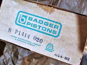 Badger Pistons Piston Set 8 P1414 020 International Harvester V8 engines