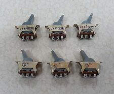 6pcs PT17-1 Military Toggle Switch DPDT On-On 1A 250V USSR for Audio, NOS NEW