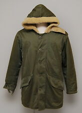 1940s WWII Military USAAF Olive Gabardine B-11 Uniform Heavy Parka Coat Jacket