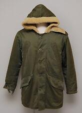 1940s WWII Military USAAF Olive Gabardine B-11 Uniform Heavy Parka Coat Jacket