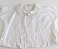 Camicetta  bianca con colletto ricamato, maniche corte bambina 7/8 anni
