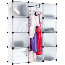 Etagère enfichable  Armoire  Penderie à vêtements rangement système clip blanc