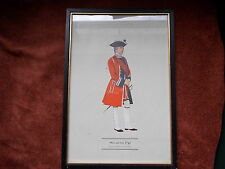 MILITARY FRAMED PRINT  BY P H SMITHERMAN (hugh evelyn print)(officer 4th foot)
