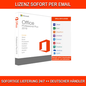 Office 2019 Professional Plus Vollversion Lizenz, Lebenszeit