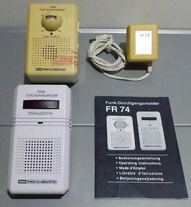 Funk DURCHGANGSMELDER FR 74 von m-e: Sender+sep.Empfänger, Signal opt./akustisch