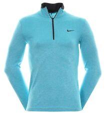 Nike Golf Dri-fit Camisa Para Hombres Con Cremallera Media De Punto Omega Azul-XXL - 726580 418